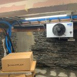 Image for the Tweet beginning: Installation of cellar cooling at