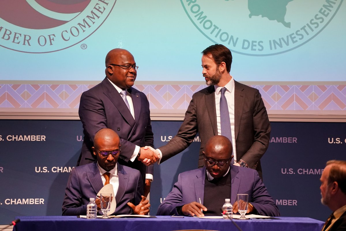 test Twitter Media - This week we hosted President #FelixTshisekedi of #DRC for a Business Roundtable. H.E. #Tshisekedi outlined his #economicdevelopment priorities, launched #DRCInvestmentGuide, and witnessed MoU that was signed between @USChamberAfrica & #ANAPI for #tradePromotion. https://t.co/GH0UBWJfQV