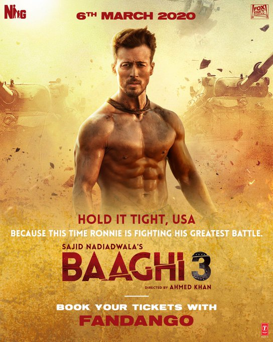 The wait is over as the rebel is back to turn the tables. Watch the thriller #Baaghi3 in cinemas on 6th