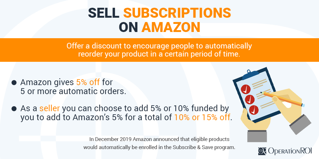 Did you know eligible products are now automatically enrolled in Amazon's Subscribe & Save feature? Amazon is offering a tiered-discount of 5% off on five or more automatic orders. As a seller you can add an additional discount of 5% or 10%. Read more -> https://t.co/TDaZGYkE97 https://t.co/cfhfgSyhZc