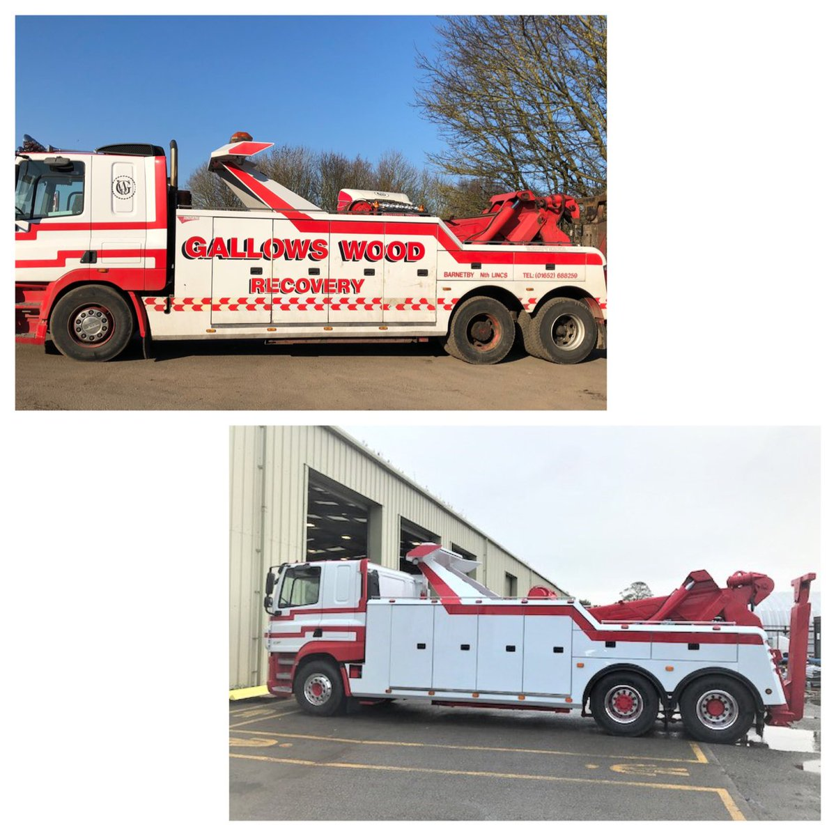 test Twitter Media - A #refurbishment carried out last year for Gallows Wood Recovery. Vehicle body and lifting equipment fully shot blasted,  re-painted and fitted to a new chassis. Painted to customer's livery using #Sikkins #LV352  #BeforeAndAfter #MWHull https://t.co/Rq6IQwf0Uo