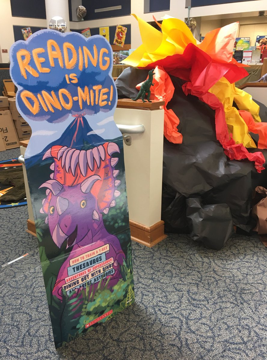 Our spring book fair is dino-mite! Come visit! #isleREAD