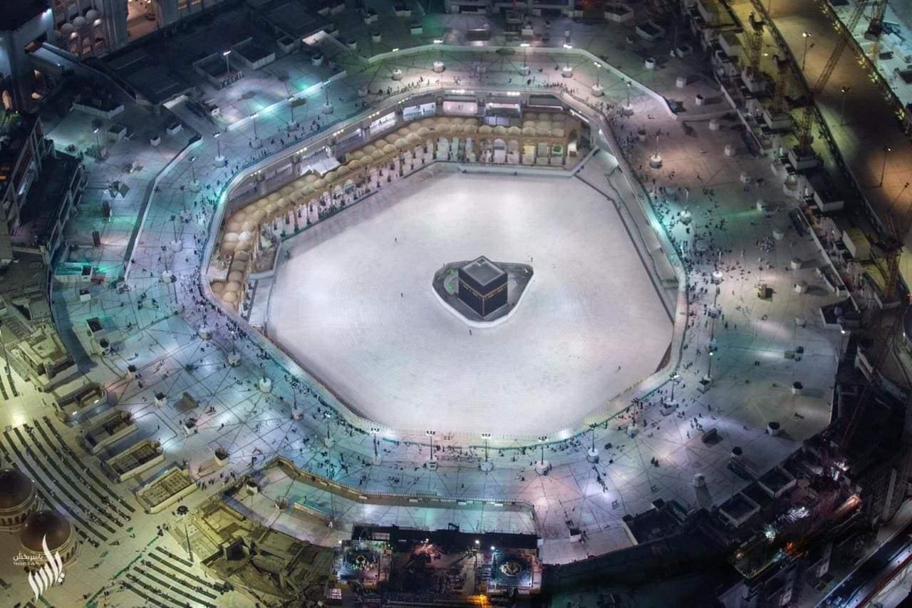 Pemandangan Masjidil Haram pada Jumat (6/3/2020)