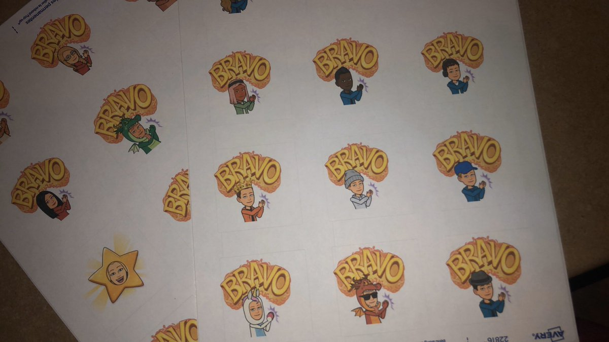 Can't wait to use these stickers for writing motivation tomorrow! Students will complete a writing piece then get to have their customized @Bitmoji sticker of approval from Mlle Daley @ChebuctoH  @NS_LTA @HRCE_FSL https://t.co/hSMfRAqGBM