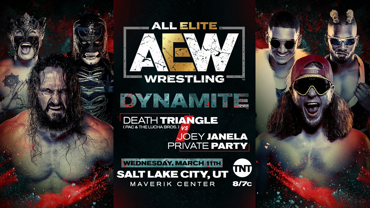 The Death Triangle Battles Joey Janela And Private Party On Wednesday's AEW Dynamite From Utah