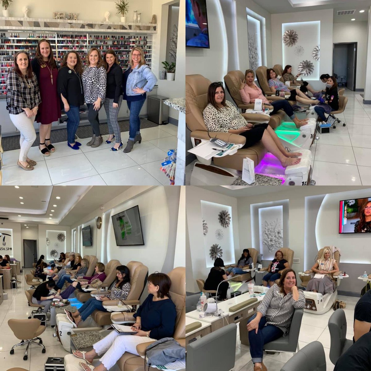 Who doesn't love a great pedicure and knowledge to make your business grow? Thank you to all our #RockStarRealtors .   #palmbosandprovidence #closewithprovidence #loansbyglenda #lendinginheels #sginspections #theladyinblue #amytoungetinsurance #ahs #jenthehomrwarrantygirlpic.twitter.com/j78YdJVUg0