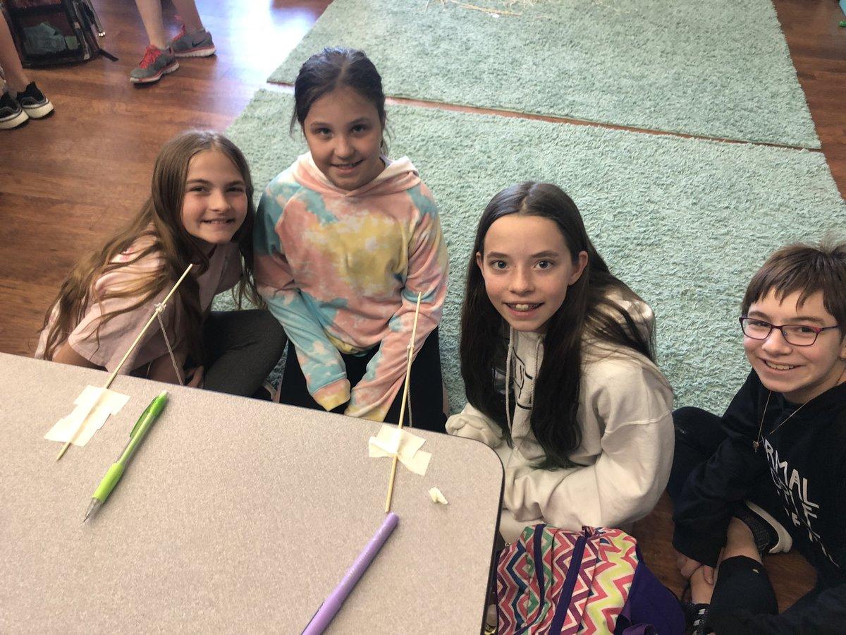 These amazing girls designed a perfect pendulum experiment! @popepanthers @CFISDScience
