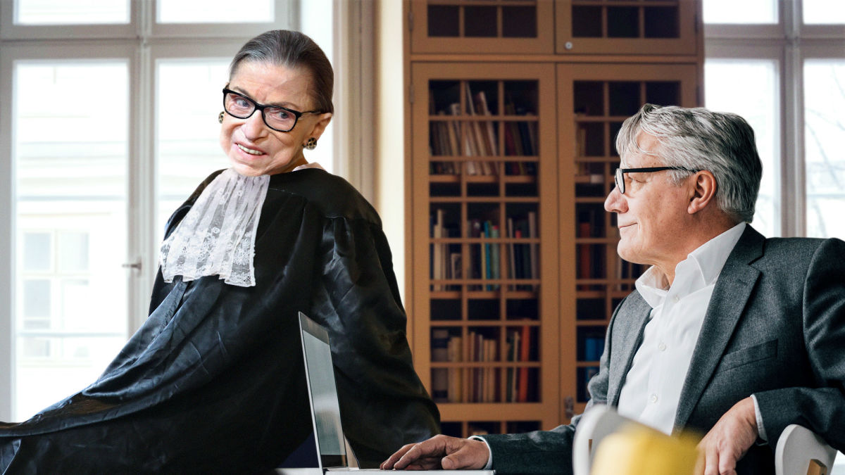 Ruth Bader Ginsburg Flirting With 67-Year-Old Intern Again https://t.co/urwrBbiOOg https://t.co/Bsc4Or12J5