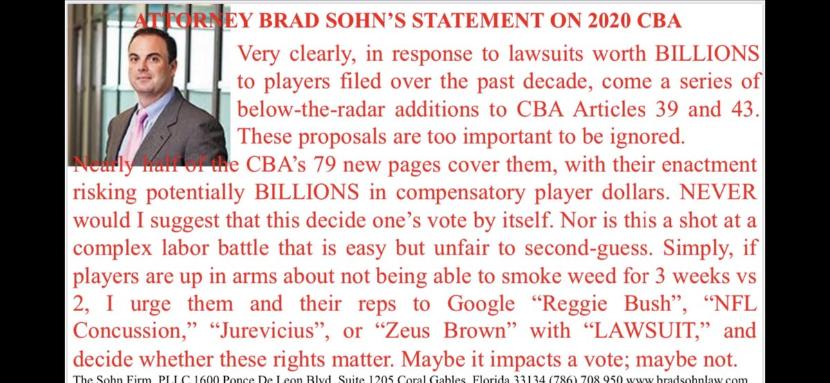 Having been asked by to sum up my issue with the #nflpa #nfl #cba, so I do so here.