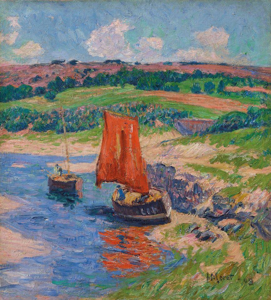 "rt* on Twitter: ""Henry Moret La voile rouge (1909)… """