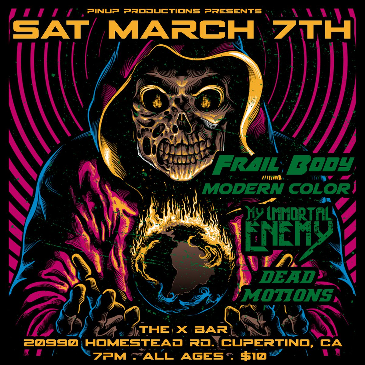 @StevenJuliano of I Am Ghost's new band @MyImmortalEnemy has their first show of 2020 THIS Saturday in San Jose, CA! ALL AGES! https://t.co/xMl7Jth2hi