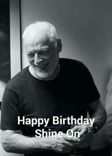 Happy 74th Birthday to my mancrush David Gilmour