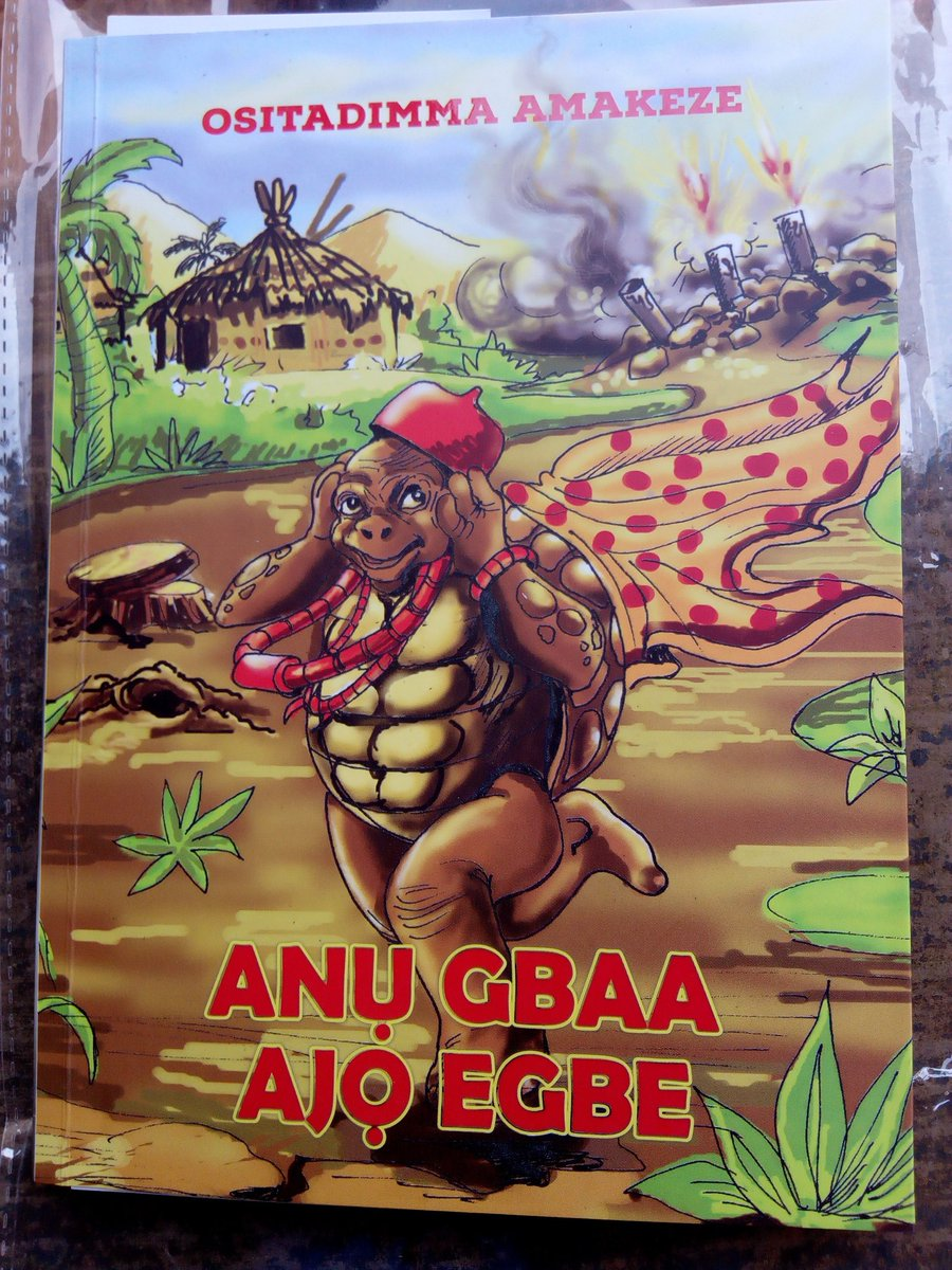 #AnụGbaaAjọEgbe is a contribution towards promotion & preservation of #folktales as tradition in #Igboland. Let the title which at the first, looks controversial not deter you, for where there's #Tortoise, there are limitless possibilities. Remember, it was he who chose to...pic.twitter.com/HtR2WrEQ7R