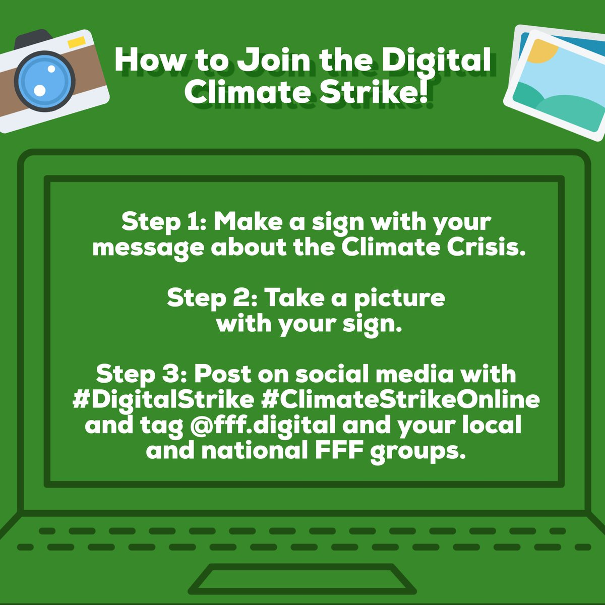 Share the graphics below and encourage your friends and family to join us in continued weekly action!