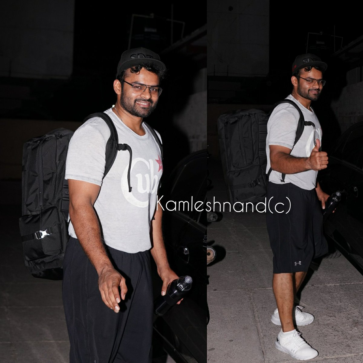 Super cool #saidharamtej spotted post gym session in the city   @IamSaiDharamTej @kamlesh_nand #fitnessfreaks  #tollywoodcelebs  #Actor #saidharamtejfans #hyderabad #southpaparazzi #megafanspic.twitter.com/g96QTWwoXk