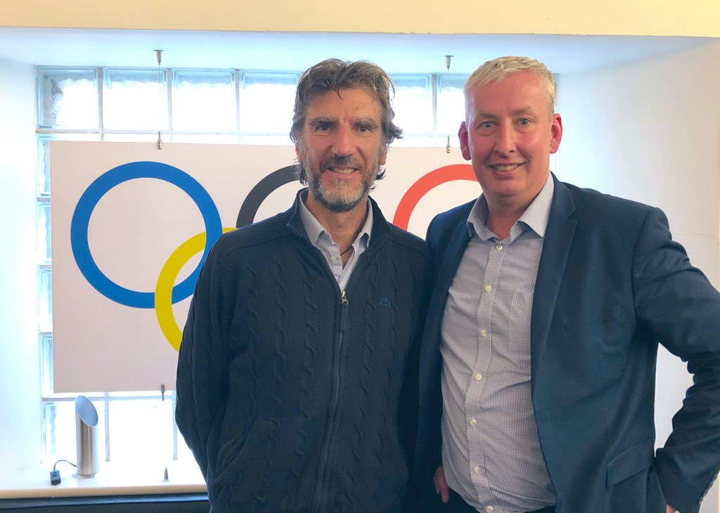 """Team Ireland on Twitter: """"Not one but two rowing legends visited ..."""