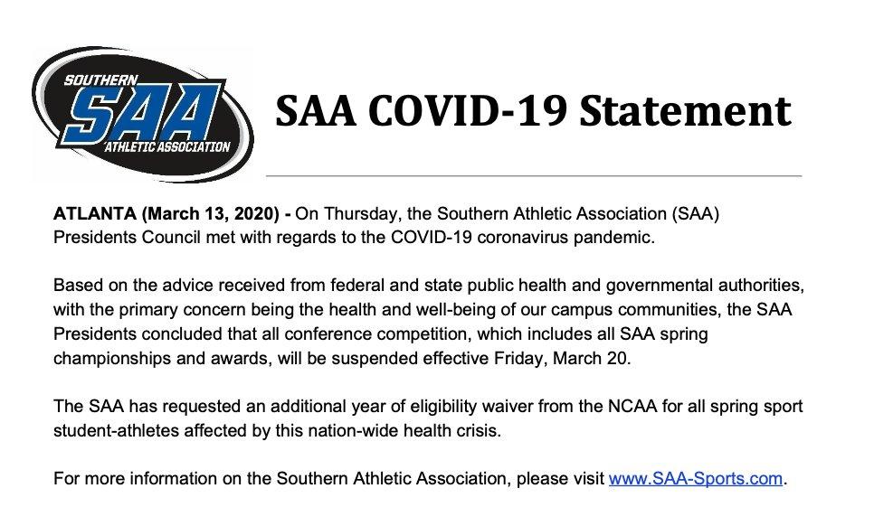 SAA Sports (@SAA_Sports) on Twitter photo 13/03/2020 13:03:55