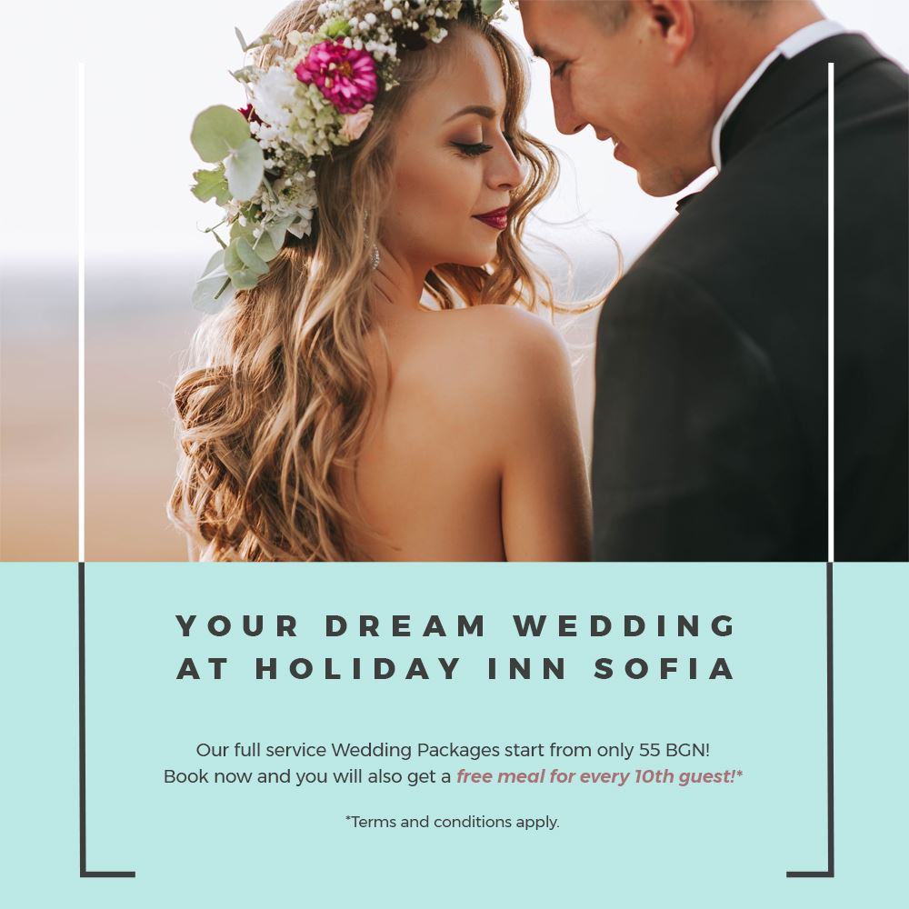 Do we hear #wedding bells? Here at Holiday Inn we specialize in hosting the finest wedding #celebrations in Sofia! And right now you can get a free meal for every 10th of your guests - just drop us an email and get your personalized offer today! https://t.co/8n1yBPf5Xd https://t.co/c0FhJKkNIo