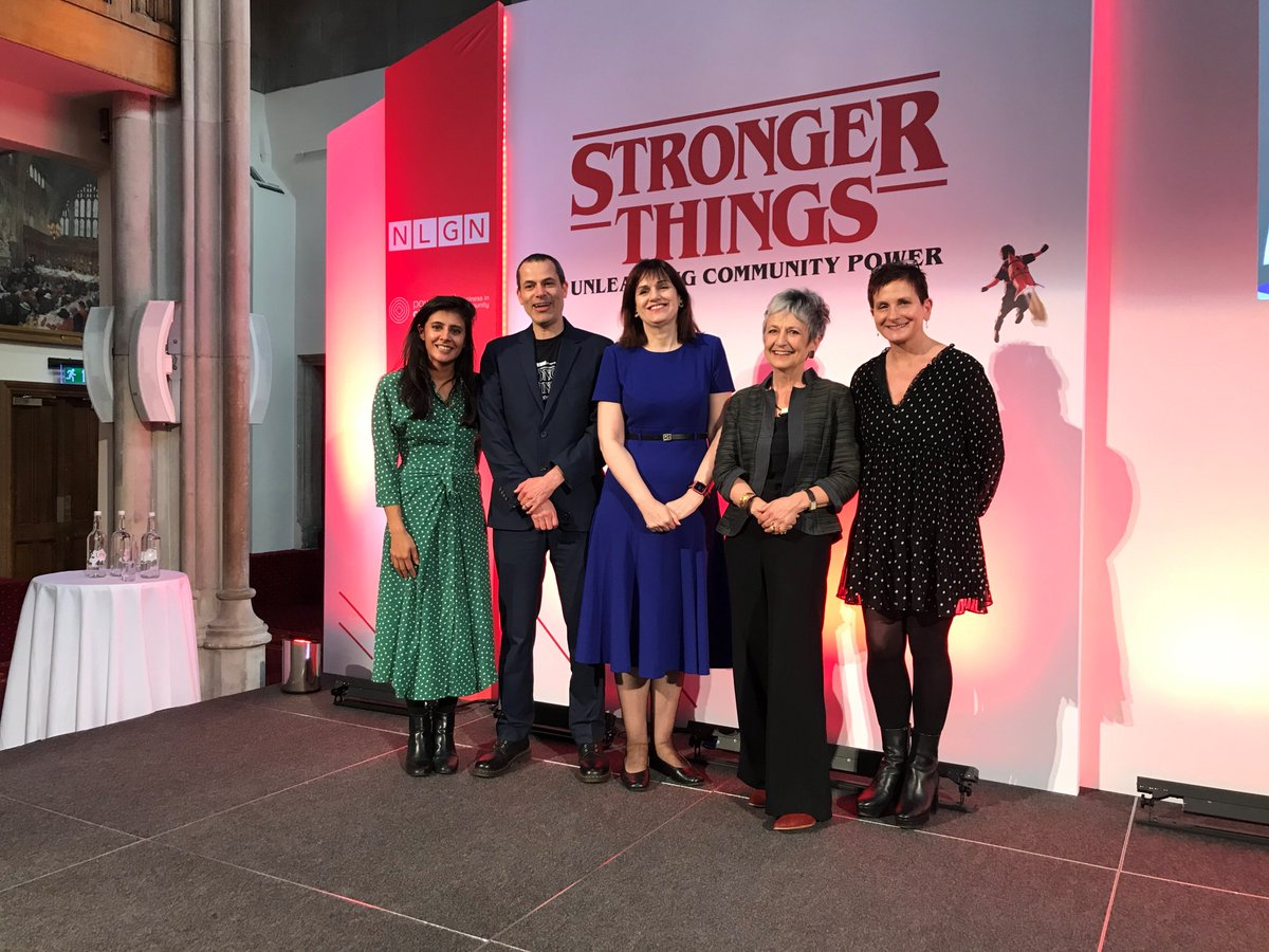 Thanks @NLGNthinktank for a great #StrongerThings conf yesterday. Terrific line up of key speakers:  💪 @ProfDonnaHall CBE, @NLGNthinktank  💪 Prof. @helenbevan OBE, @horizonsnhs 💪 Dame @juliaunwin DBE, @Civsocfutures   💪 @KajalOdedra1, @UKChange   #CommunityPower #LocalGov