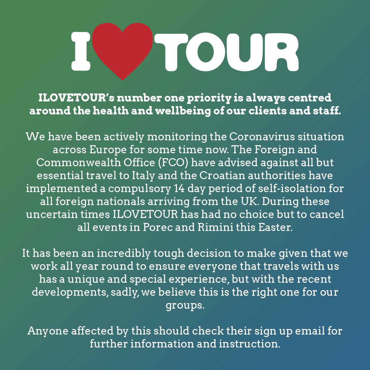 ILOVETOUR update!    https://t.co/KFSX19ESmM https://t.co/PYyyRnKM59