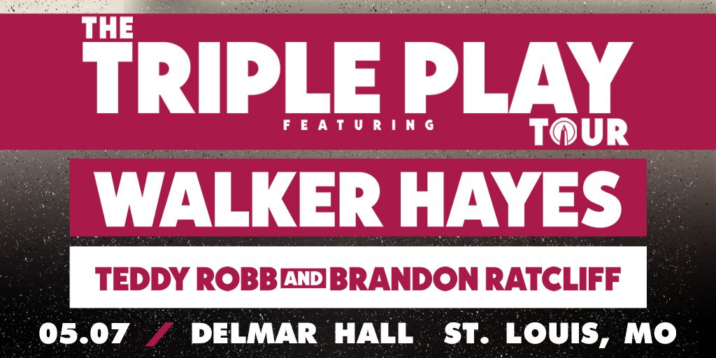 ON SALE NOW: Triple Play Tour - @walkerhayes at Delmar Hall |05.07| Get tickets: j.mp/2Q2a3Wj Click on the event page above for more info + learn how to win tickets!