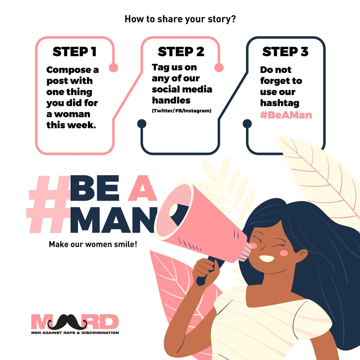 To all the men out there, #BeAMan and share your story about one thing you have done for a woman this week that put a smile on her face. Eg 1: I helped my mother clean the house today. @MardOfficial #BeAMan @PopFoundIndia @MKBKSH_ @FarOutAkhtar #GenerationEquality #IWD
