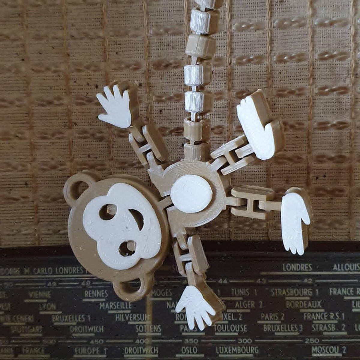 J'ai un nouvel animal de compagnie  Imprimé pour ma fille  Créé par #fixumdude sur @cults3d  Très jolie création, j'ai eu un coup de foudre  #singe #articulé #animauxmignons #animaux #animauxsauvage #animauxdecompagnie #decoratif #decoration #3dprinting #printing #art #art3dpic.twitter.com/b8Dv7zPVhW