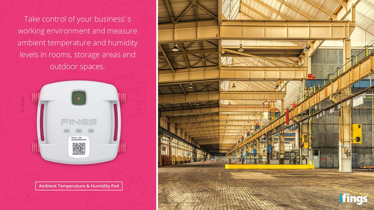 Our Ambient Temperature & Humidity Pod is the perfect solution for any industry requiring real-time temperature- and humidity tracking in heat-sensitive rooms, storage spaces and outdoor areas.  Visit http://www.ifings.com for more info!  #iot #internetofthings #capetowntechpic.twitter.com/rS6AWbyZFX
