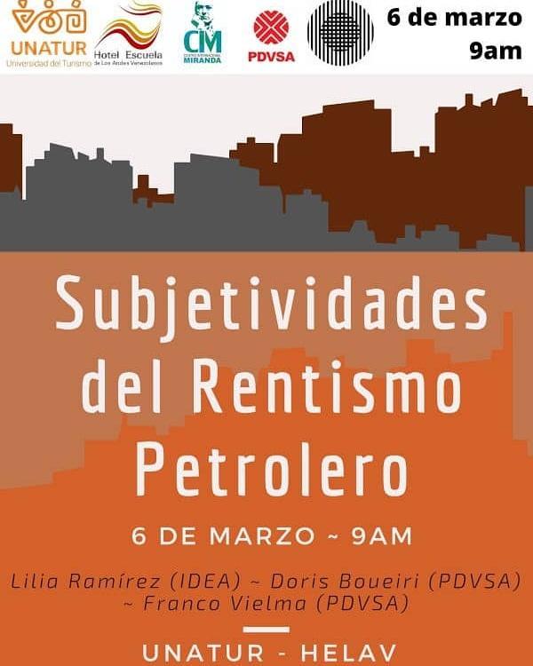 Conversatorio «Subjetividades del rentismo petrolero»