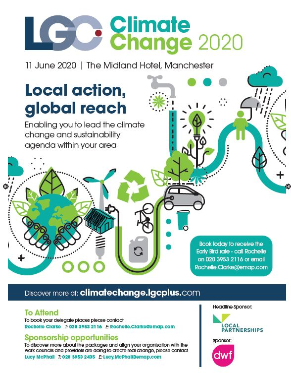 RT @lgcplus Download the latest programme for the LGC Climate Change 2020 conference, 11 June, The Midland Hotel, Manchester. https://t.co/HBqOfnWvPM Early Booking Rates available now. #ClimateChange #Sustainability #LocalGov #LGA #LGIU #LGCClimateChange @LP_localgov @DWF_Law