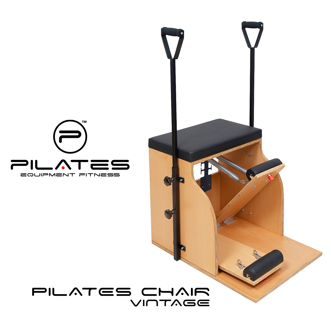 The Pilates Chair Vintage offers a choice of 4 spring positions for each spring and 2 spring strengths to provide a wide variety of resistances. It is made of Beech Wood for robustness. . #pilates #chair #pilateschair #pilatesforall #fitness #pilatesequipment #healthybodypic.twitter.com/Y4DjBlZV4Q