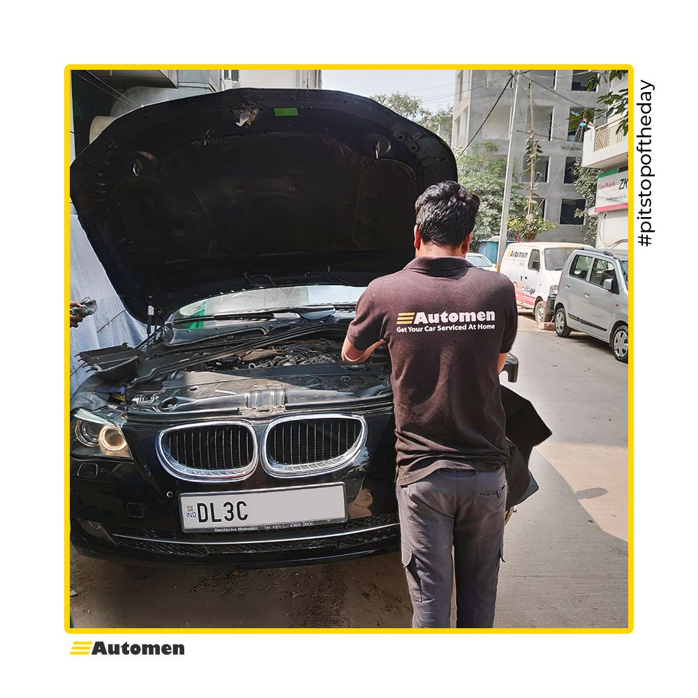 #pitstopoftheday Car servicing is best left to the experts, and at your doorstep! Our technicians give their love and care to this beautiful BMW 520D that came in at Automen for #pitstop. #bmw #bmwmsport #bimmerlife #bimmerlove #bmwnation #m3 #m5 #bmwstories #automen #automendedpic.twitter.com/6G1rJ44SnG