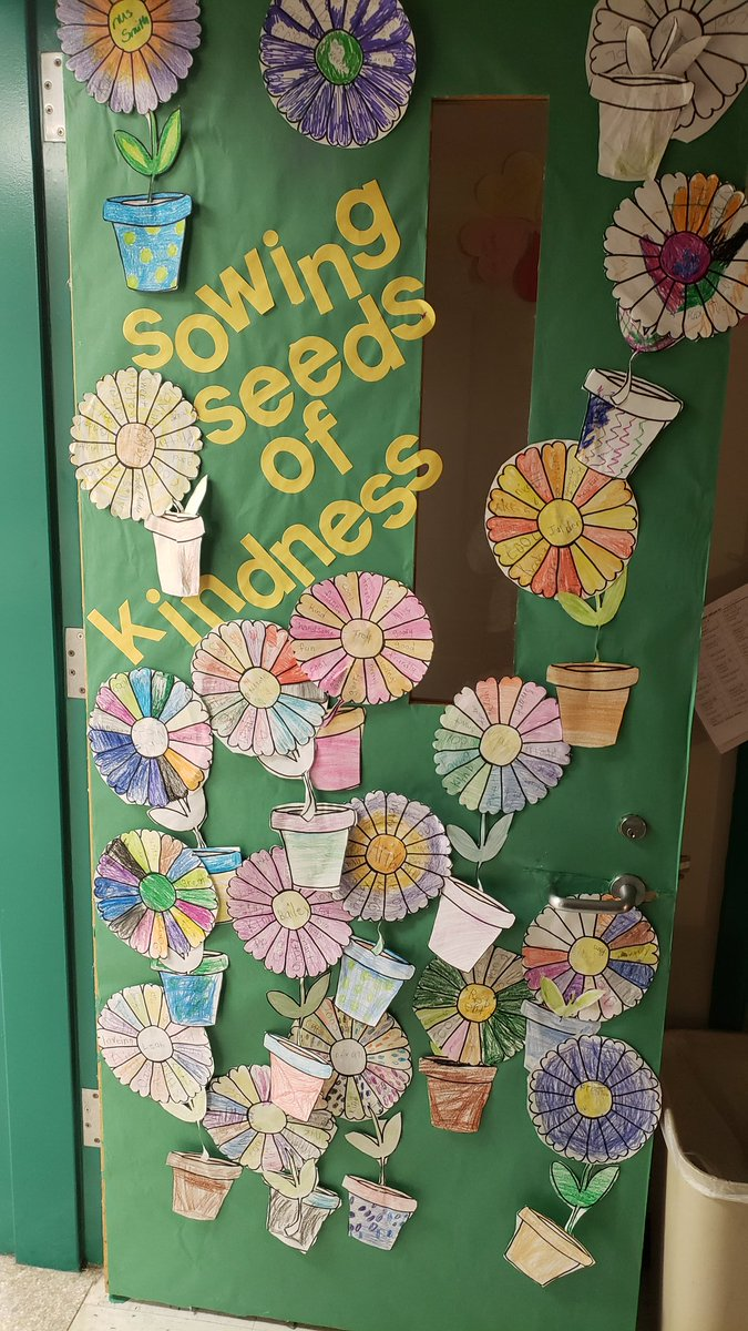 New door Students walked around and wrote kind adjectives about each other 🥰🥰🥰