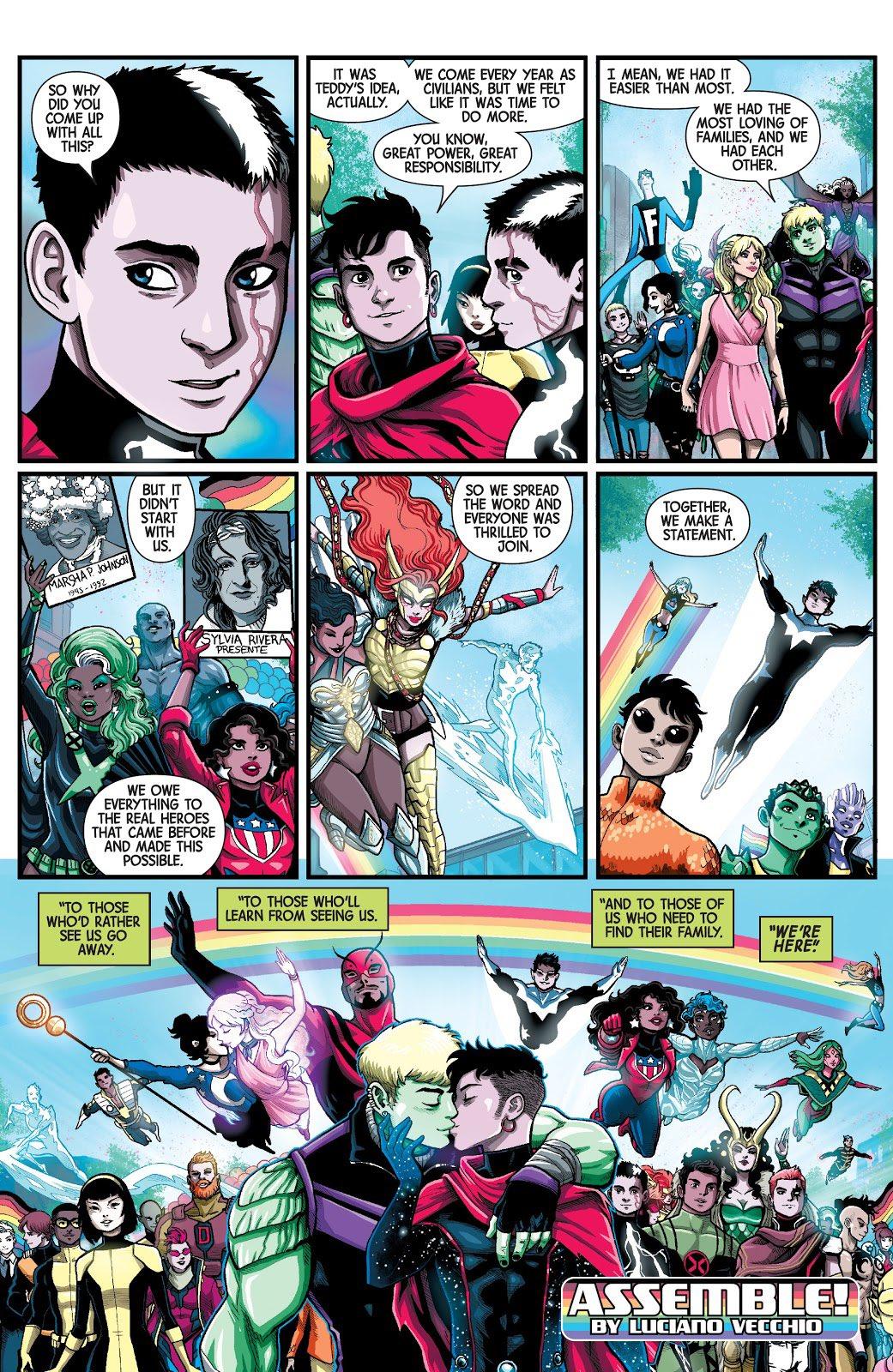 Marvel's voices: Pride Luciano vecchio artista argentino
