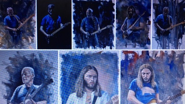 Happy birthday to David Gilmour.  Hope it is a great one!  Artwork courtesy of Scottish artist, Charlie Roy.