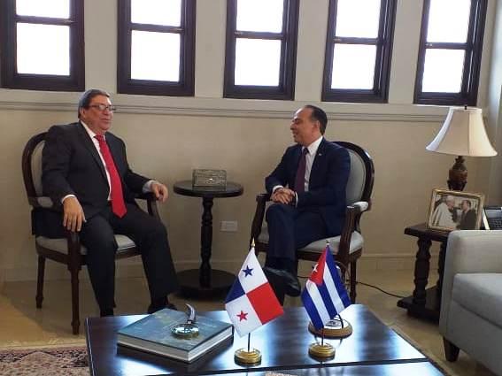 Cancilleres de Cuba y Panamá sostienen conversaciones oficiales