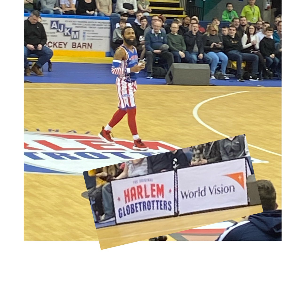 Here @Globies hearing about the great effort the guys @WorldVision make for children across the world 👍🏀