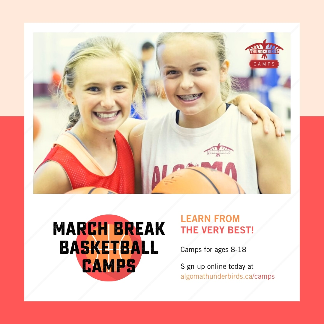 March Break is less than 2 weeks away   Develop your skills this March Break with Algoma University's Varsity Basketball Head Coaches: Ryan Vetrie and Etienne Jacquet  Sign up today at http://algomathunderbirds.ca/camps #marchbreak #marchbreakcamp #camp #basketball #thesoo #algomaupic.twitter.com/S6Chmuva8i – at George Leach Centre