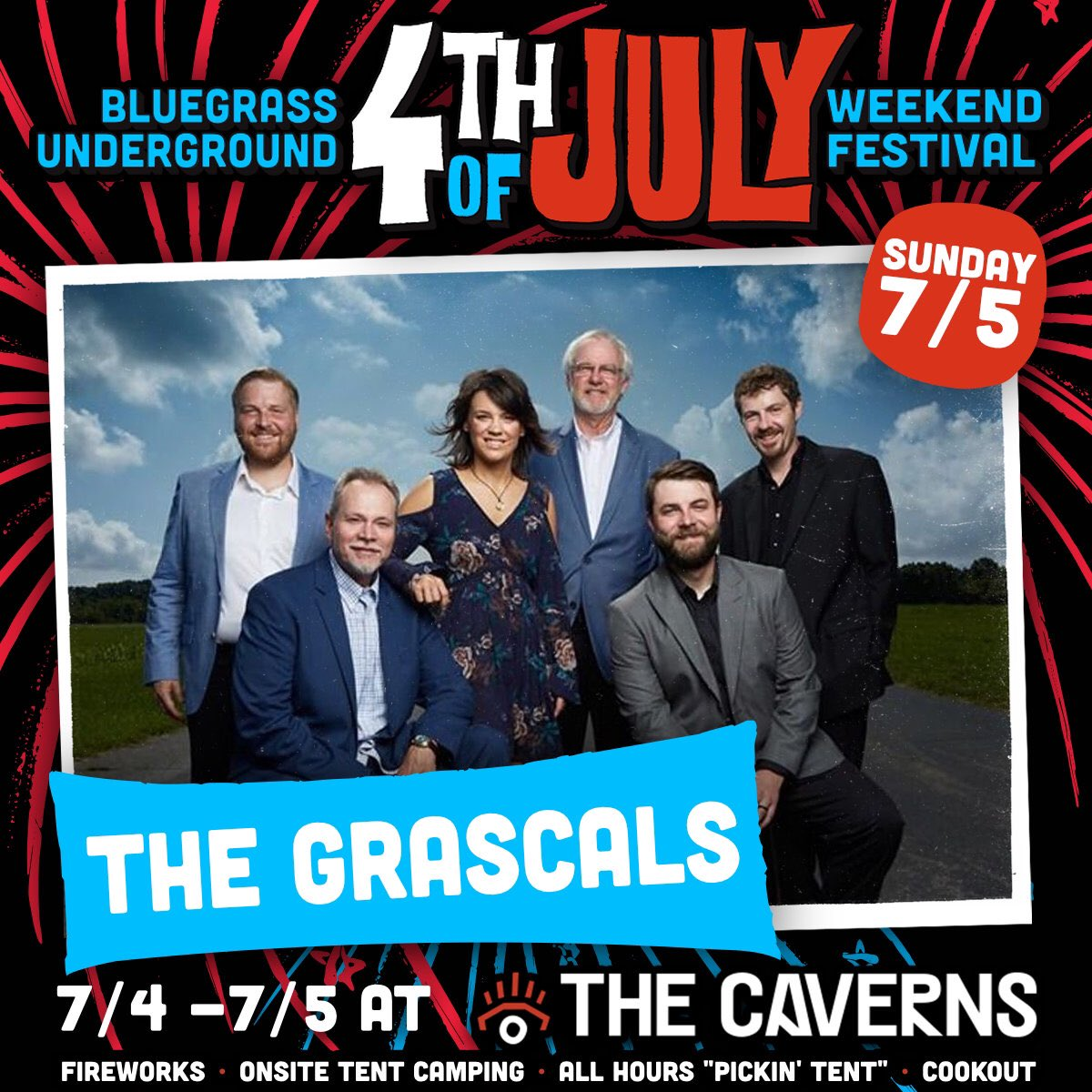 We would LOVE for you to join us for @BluegrassUnderg's 4th of July Festival this summer! We will see you at @thecaverns as we celebrate Independence Day together!    Get tickets here: https://www.eventbrite.com/e/bluegrass-underground-4th-of-july-weekend-festival-tickets-93376382273 …  #4thofjulyfest #bluegrassunderground #thecavernstn #grascalspic.twitter.com/KEqXBGy7C4