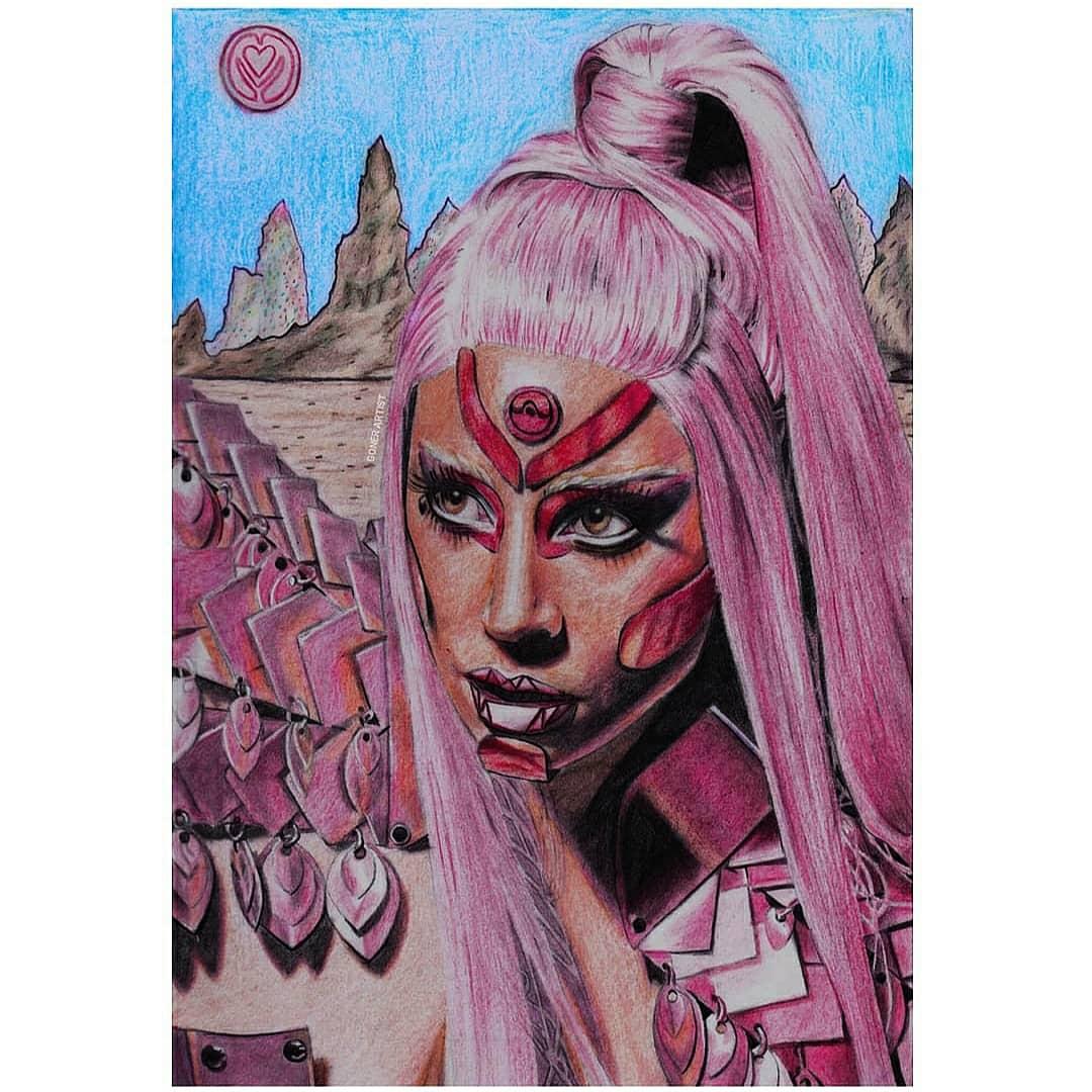 """Stupid Love""💗👽  #artoftheday #art #artwork #draw #drawing #illustration #fanart #artsy #pencilart #sketch #portrait #supportart #graphiteart #realisticart #handmadedrawing #drawnbyme #realisticdrawing #chromatica #lg6 #ladygaga #stupidlove #gaga #RT"