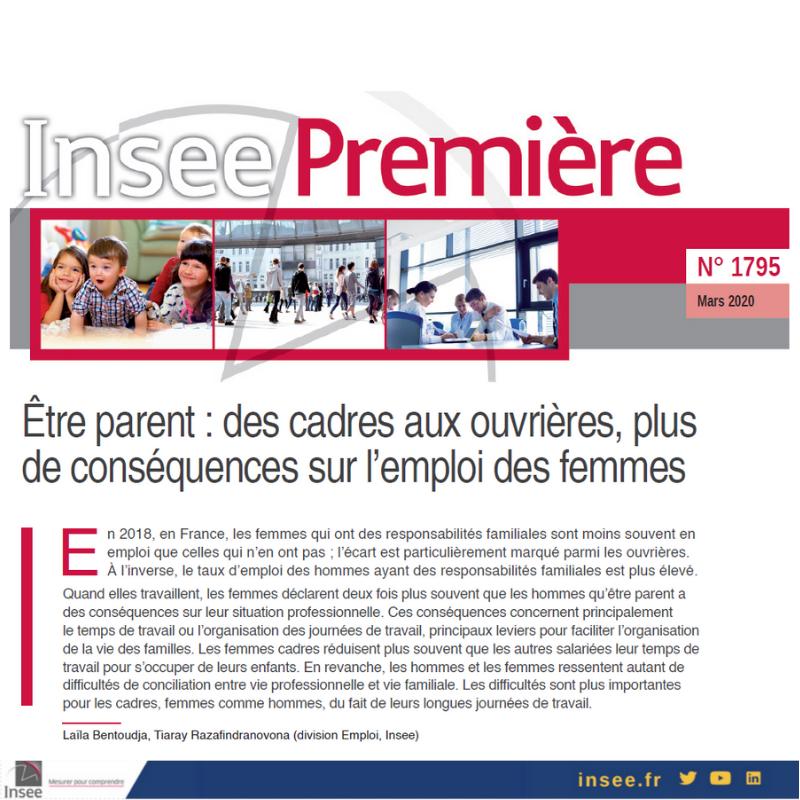 Vignette document Etre parent : des cadres aux ouvrières, plus de conséquences sur l'emploi des femmes