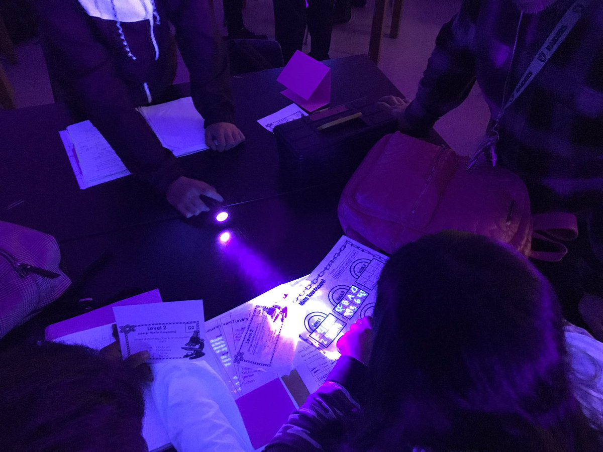 Visiting Fundamentals Science at SUHi to see re-learning from a test via escape room. 100% student engagement. Nice!