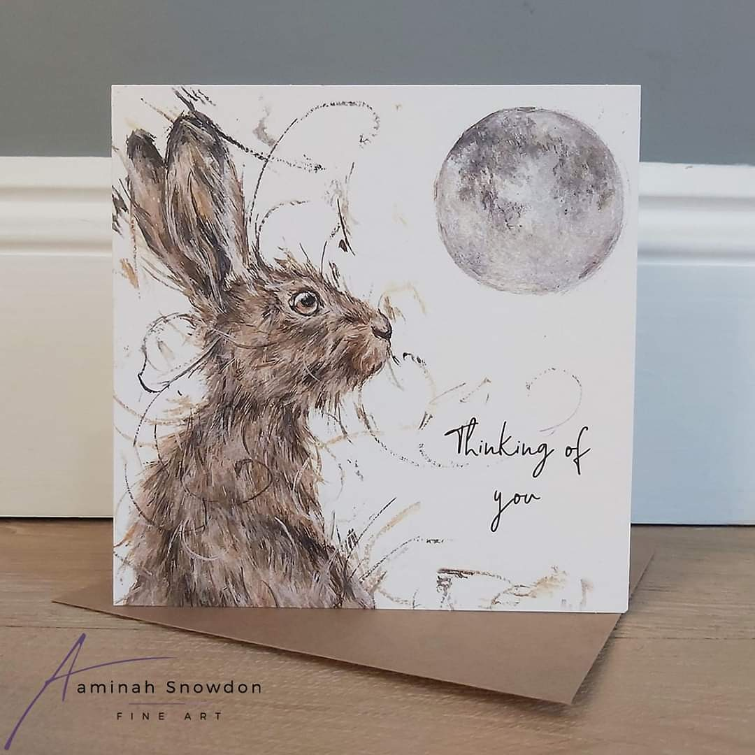 Aaminah Snowdon Mounted Signed Limited Edition /'Somebunny to Love/' Hares