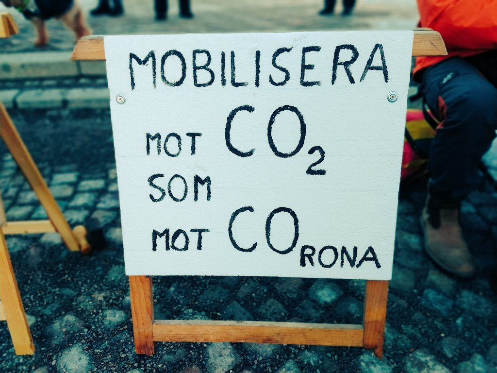 Climate strike week something.. Cold but with good energy! 💚🌍🌱 #FridaysForFuture