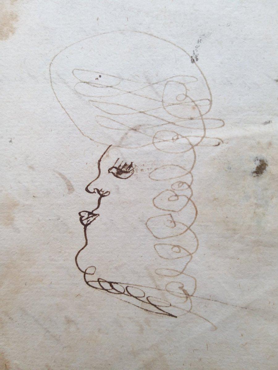Vandaag kwam ik deze grappige tekening tegen op een akte van de schepenbank van Moergestel. Een tekenoefening? Er stonden er twee onder elkaar #moergestel #doodle #18deeeuwpic.twitter.com/ouZqp61uAN
