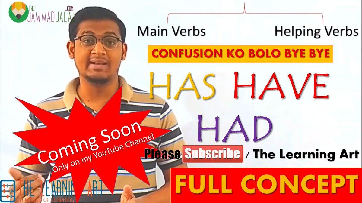 New video is coming guys, tomorrow Insha Allah #NewVideoonYouTubeChannel #EnglishwithJawwadJalal #TheLearningArt #TheJawwadJalal #EnglishGrammar #EnglishLanguage #HasHaveHadpic.twitter.com/iPBFMRUbx6