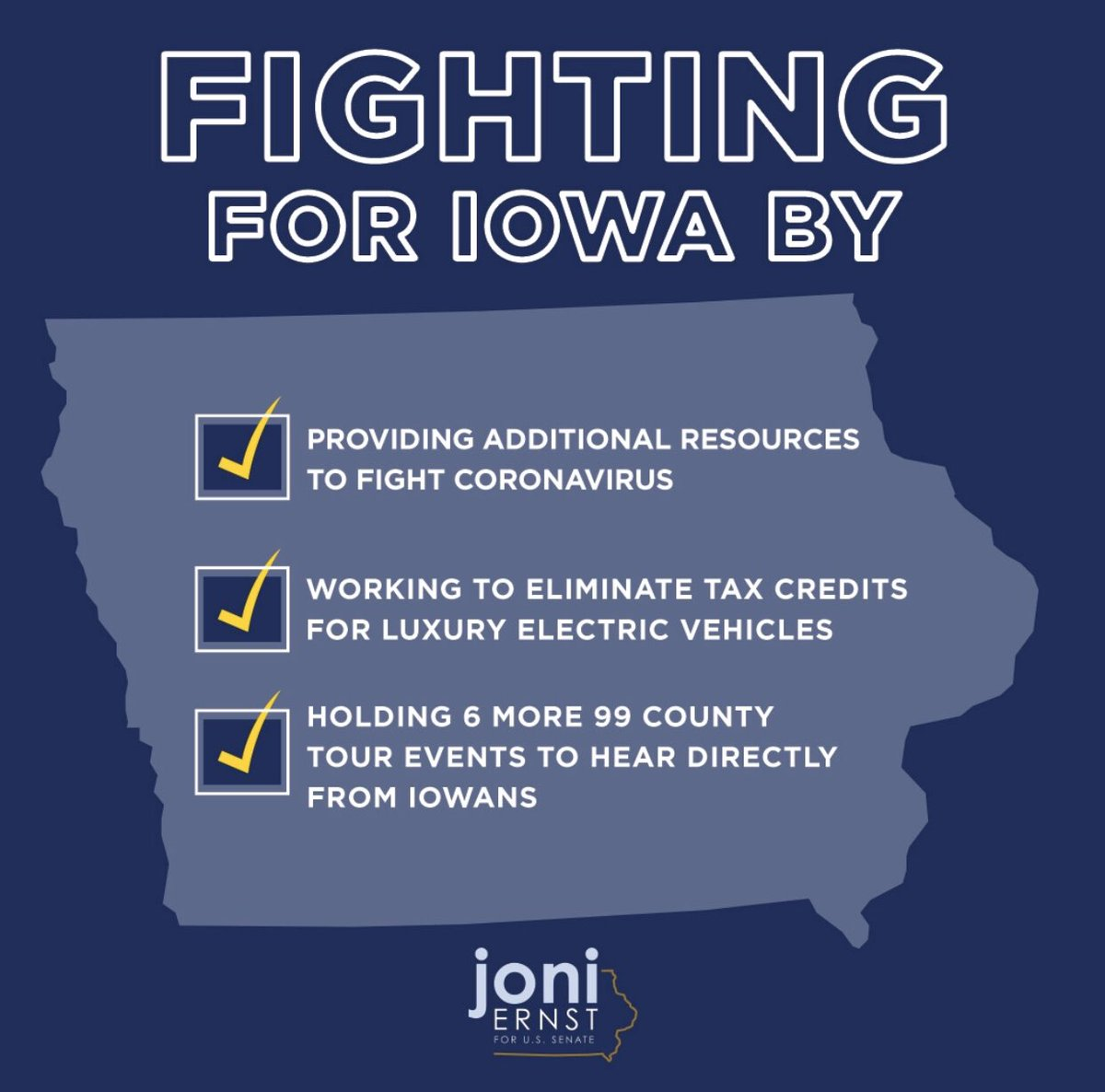 Wrapping up another busy week fighting for Iowa!