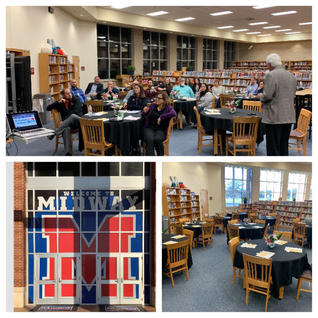 TY @MidwayHS for hosting a great @TASSP1 Region 12 Meeting! #greatpeople #greatideas