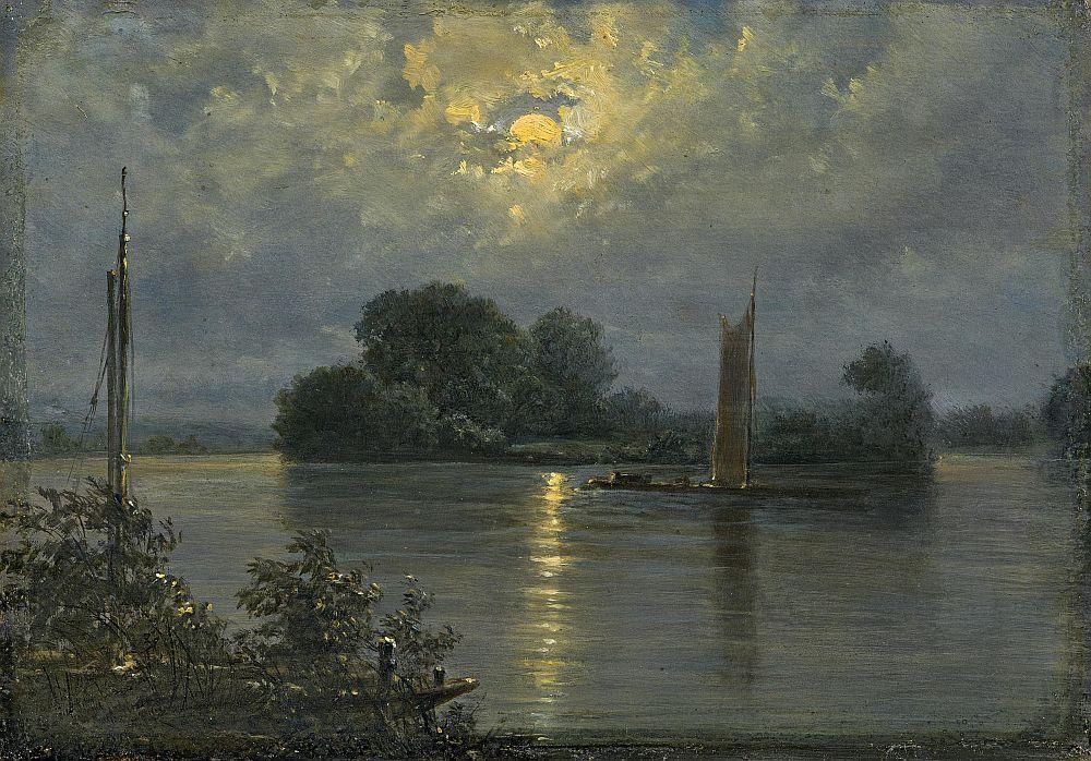 Full moon at Pillnitz [Vollmond bei Pillnitz] by Carl Gustav Carus (1789-1869). #Germany #Victorianpic.twitter.com/7hJMo8K6Al
