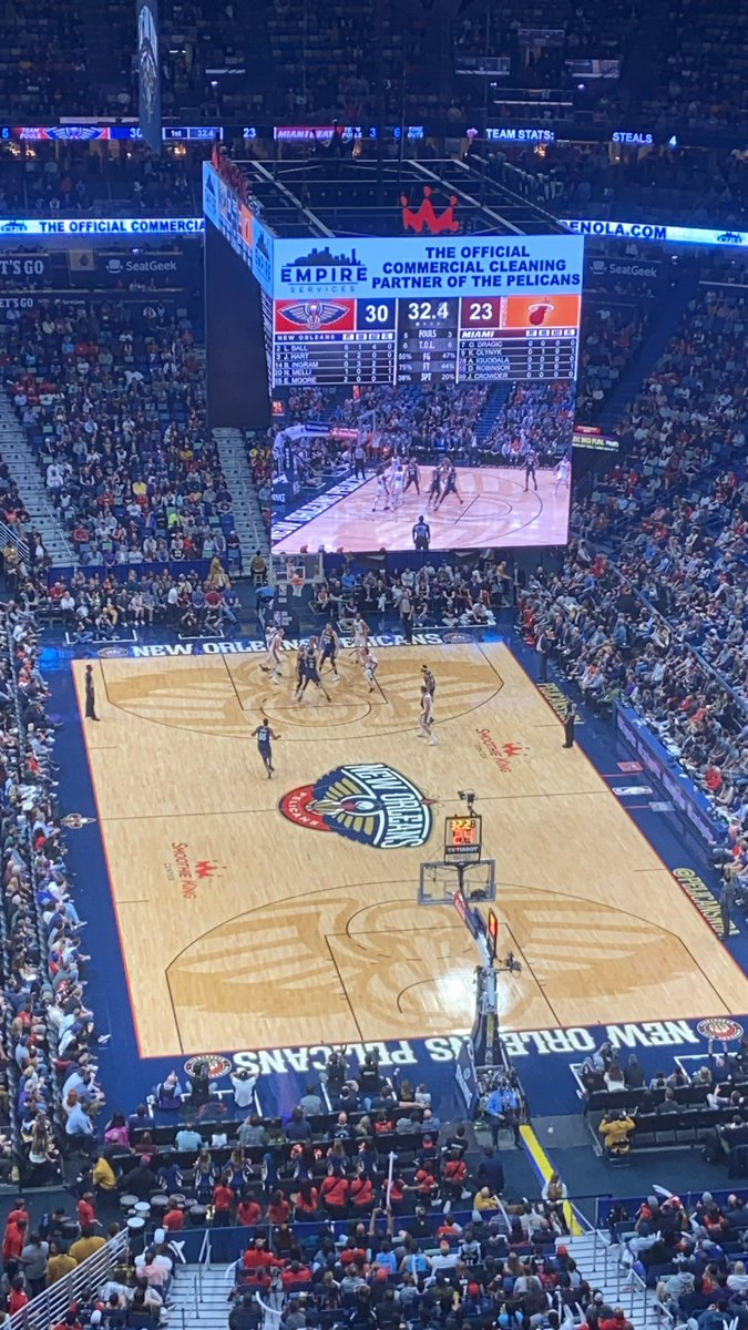 At the Pelicans game. #pelicans #pelicansnba #nba #basketball #neworleans #nola #smoothiekingcenter  #MIAvsNOPpic.twitter.com/Qxkui0Lmdu – at Smoothie King Center